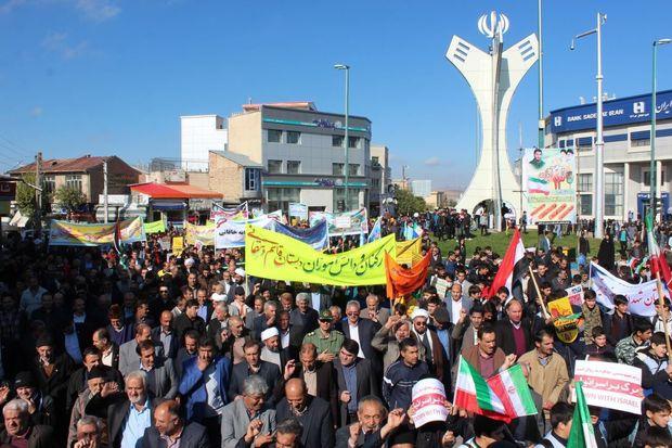 راهپیمایی ۱۳ آبان در خلخال برگزار شد