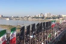 تصاویری تکان دهنده از سوگواری مردم اهواز از سردار شهید سپهبد سلیمانی