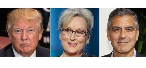 واکنش «ترامپ» و «جورج کلونی» به سخنرانی «مریل استریپ»