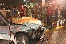 تصادف در جاده فریمان ۹ مجروح بر جای گذاشت