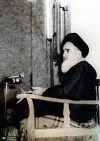 علی اکبر محتشمی پور و امام در نجف