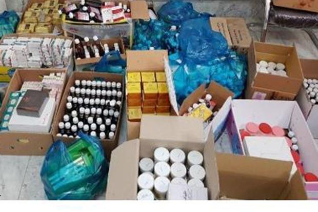 3149 قلم دارو و کالاهای قاچاق سلامت محور در خمین کشف شد
