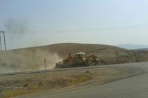 عملیات حذف نقطه حادثه خیز جاده میلاجرد آغاز شد