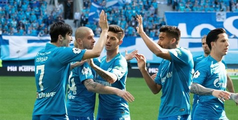 پیروزی زنیت مقابل زسکا موسکو در حضور آزمون