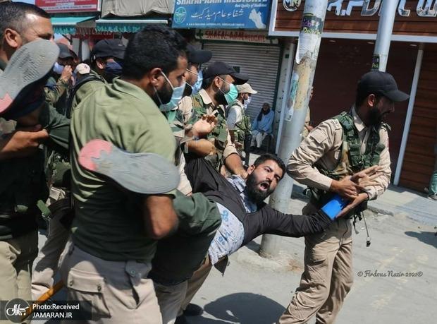 حمله وحشیانه نیروهای هندی به عزاداران حسینی در کشمیر + تصاویر و فیلم