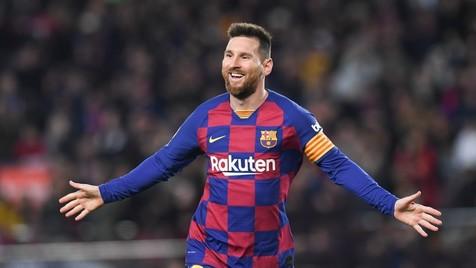 صعود بارسلونا در شب درخشش دوباره مسی/ توقف مدافع عنوان قهرمانی در خانه