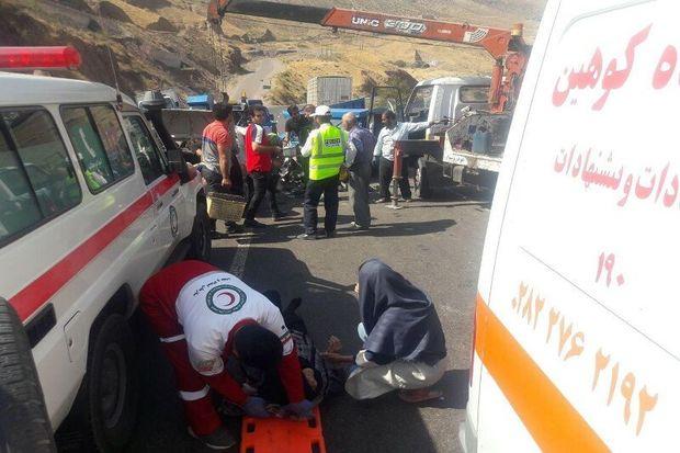 تصادف در آزادراه قزوین - رشت ۲ کشته برجای گذاشت