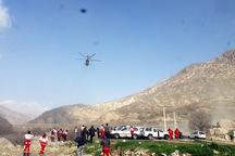 اجساد جانباختگان سقوط بالگرد به شهرکرد منتقل شد
