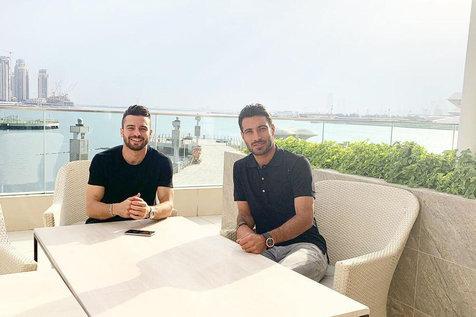 شجاع خلیل زاده و سروش رفیعی به امارات رفتند/  عکس