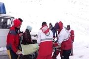 ۹ ساعت عملیات امدادی برای نجات مادر باردار مهابادی در کولاک