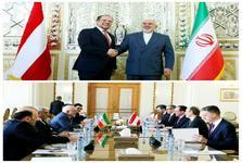 دیدار  و گفتگوی وزرای خارجه ایران و اتریش درباره برجام
