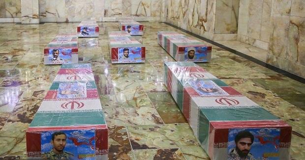 ورود پیکرهای هفت شهید مدافع حرم به حریم ملکوتی علی بن موسی الرضا علیه السلام