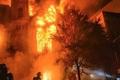 یک کلیسای تاریخی طعمه آتش شد