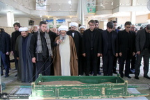 مراسم تشییع و خاکسپاری همشیره مرحوم آیت الله شهاب الدین اشراقی