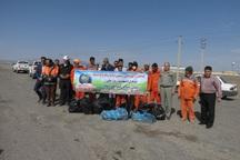 ابتدای جاده نایین - اصفهان پاکسازی شد