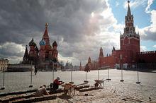 خیابان های مسکو همچنان خلوت است