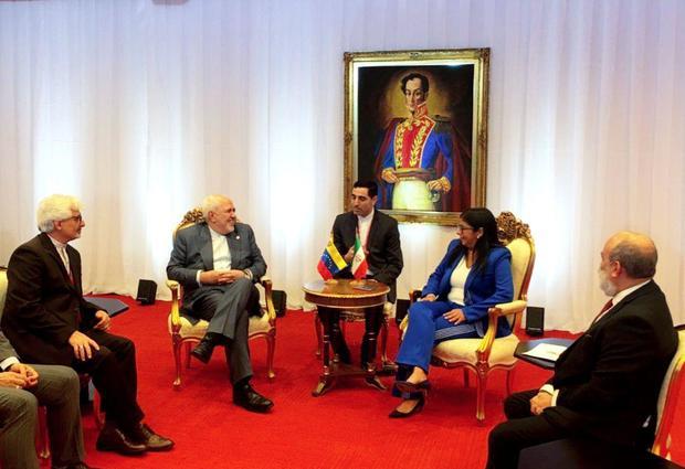 دیدار ظریف با معاون رئیس جمهور ونزوئلا