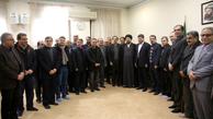 دیدار مدیران و جمعی از اعضای تحریریه موسسه مطبوعاتی ایران و خبرگزاری ایرنا با سید حسن خمینی