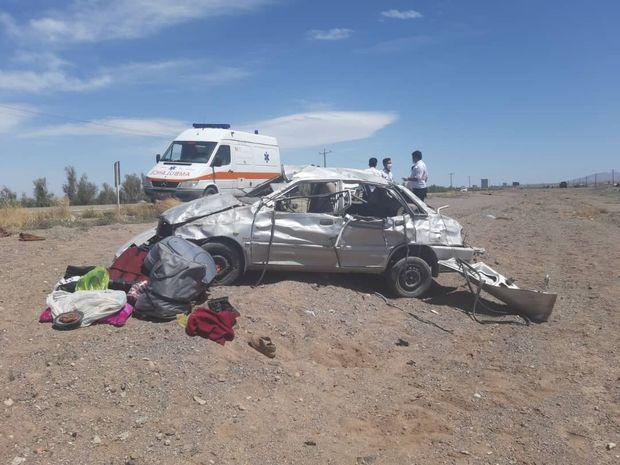واژگونی خودرو سواری در رفسنجان یک کشته برجا گذاشت