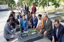 ادای احترام معاون استاندار قزوین به مقام والای شهدای شهرستان آوج