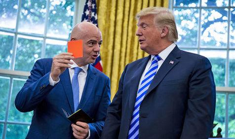 اخراج ترامپ از کاخ سفید با کارت قرمز اینفانتینو!
