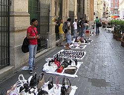 تصرف خیابان های قزوین توسط فروشندگان سیار