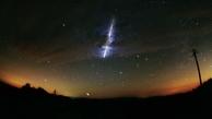 عبور شهاب سنگ از بالای آسمان ایران/ فیلم