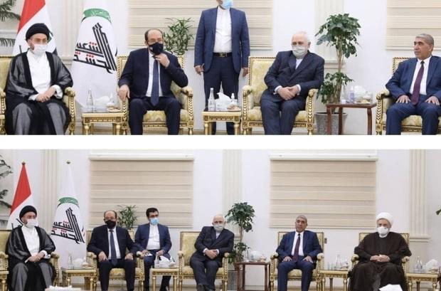 دیدار ظریف با شخصیتهای برجسته سیاسی شیعه عراق