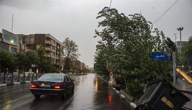 کاهش محسوس دما ، بارش باران و تندباد برای تهران پیش بینی می شود