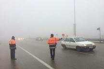 مسیرهای منتهی به مشهد مه آلود و سطح جاده ها لغزنده است
