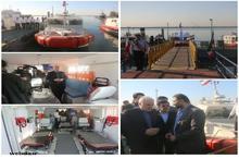 افتتاح آمبولانسهای دریایی دانشگاه علوم پزشکی هرمزگان با حضور وزیر بهداشت