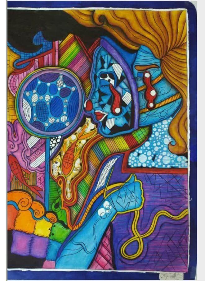 کشب مقام اول مسابقه بین المللی نقاشی کرونا توسط دانش آموز اندیمشکی