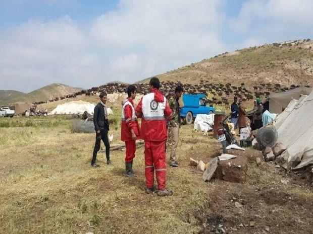 ۷۸ خانوار عشایر حادثهدیده در کوهرنگ امدادرسانی شدند