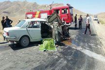 تصادف در جاده تیران- شهرکرد دو نفر را به کام مرگ کشید