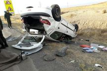 واژگونی خودرو در بروجرد یک کشته و 2 مصدوم بر جا گذاشت