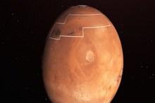 منظره باورنکردنی از یک دره یخی در مریخ