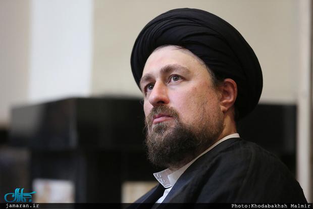 تسلیت سید حسن خمینی به سید مفیدالدین حسینی آملی