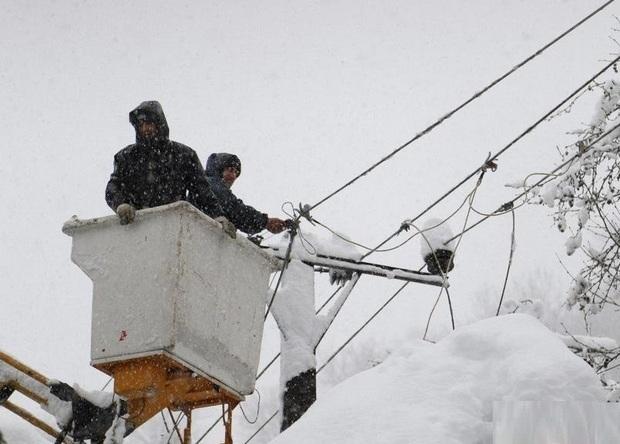 برف و سیل 450 میلیارد ریال به تاسیسات برق مازندران خسارت زد