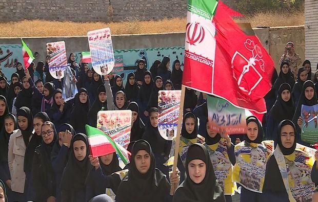 زنگ استکبارستیزی در مدارس اصفهان نواخته شد