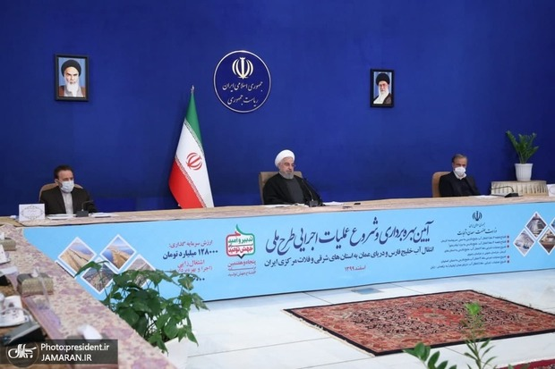 آغاز عملیات انتقال آب خلیج فارس و دریای عمان با دستور رییس جمهور