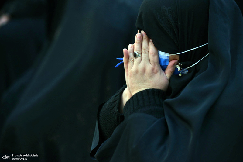 عزاداری شهادت حضرت زهرا(س) در حرم امام خمینی(س)