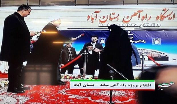 بدرقه زایران مشهد در بستانآباد توسط رییسجمهوری