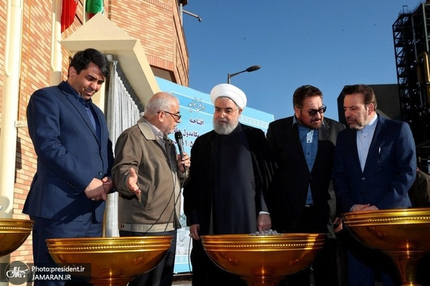 افتتاح کارخانه احیا مستقیم مگامدول چادرملو با حضور رئیس جمهور