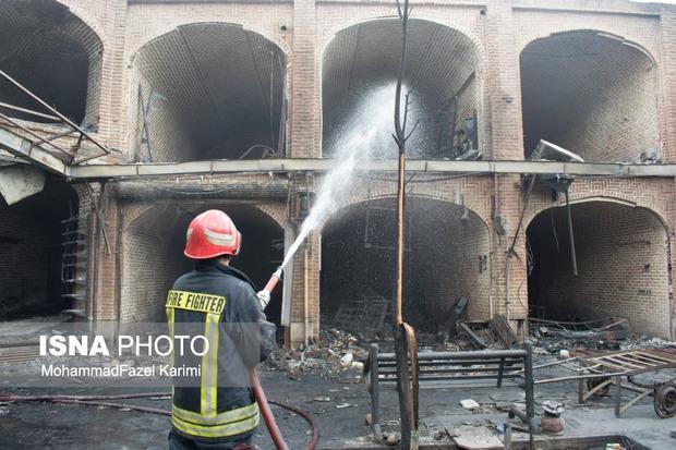 جزئیات دلیل وقوع آتشسوزی در بازار تاریخی تبریز