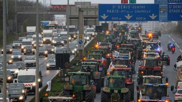 اعتراض به سبک اروپایی؛پاریس در اشغال کشاورزان+عکس