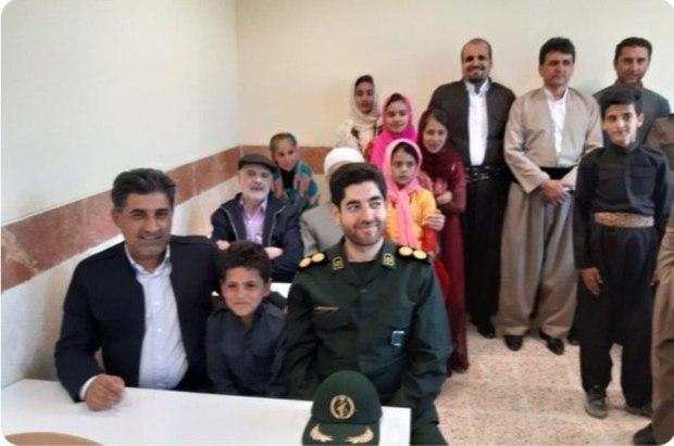 مدرسه روستای 'سیاران نهراب' جوانرود به بهره برداری رسید