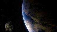 عبور سیارکی از میان زمین و ماه