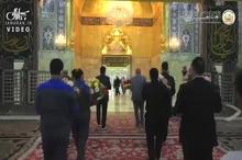 گل آرایی حرم و ضریح حضرت سیدالشهدا اباعبدالله الحسین (ع)