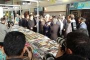 نمایشگاه کتاب قم با حضور رییس مجلس افتتاح شد