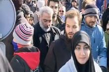 حضور فرزندان شهید سلیمانی در راهپیمایی 22 بهمن